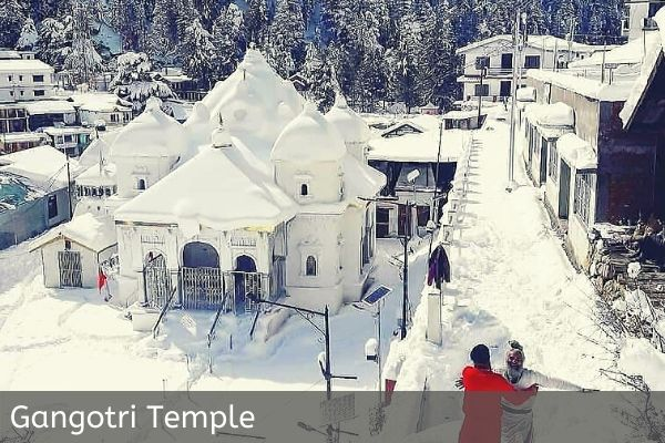 Gangotri Temple Covered with snow