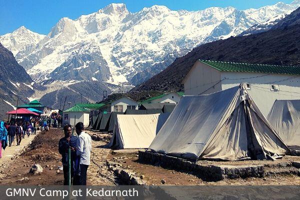 GMNV camp at kedarnath dham