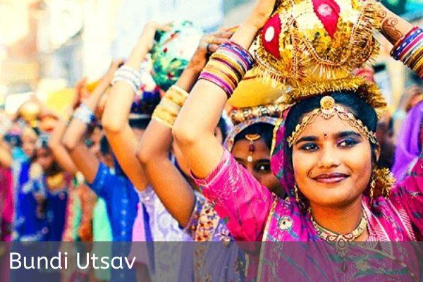 Ladies with Decorated Pot at Bundi Utsav