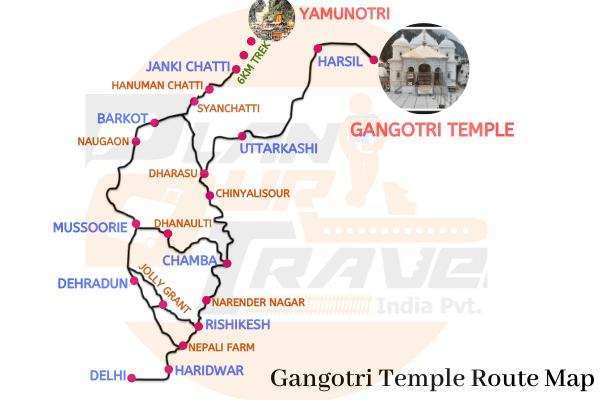gangotri temple route map