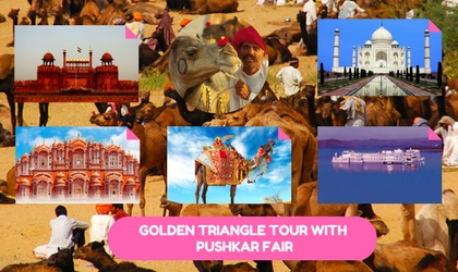 Golden Triangle Tour India with Puskar Fair
